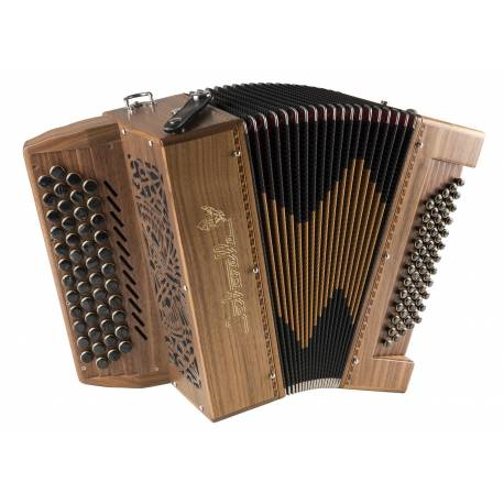 Accordeon saltarelle Chaville 4 Rangs bois : noyer