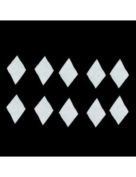Basane de soufflet blanches *10