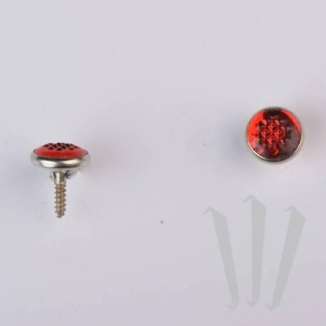 Boutons Couleur repère cerclés main gauche (9,5 mm)